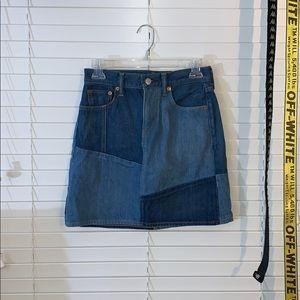 Levi's colorblock Jean skirt